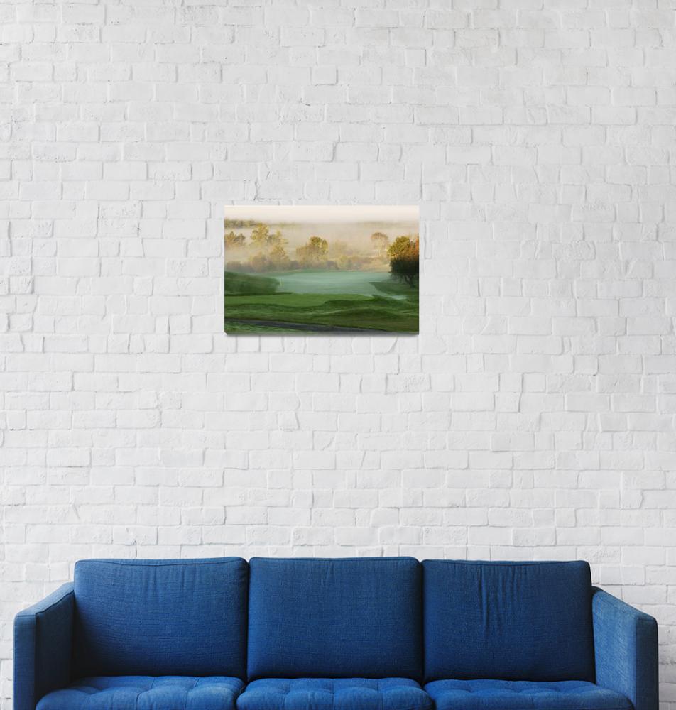 """Sunrise over Spring Meadows - 18th""  (2004) by GordieSea"