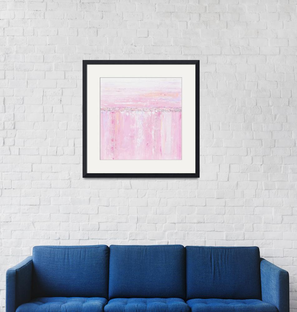 """""Make Me Blush"" Pink White Abstract""  (2017) by ChristineBell"