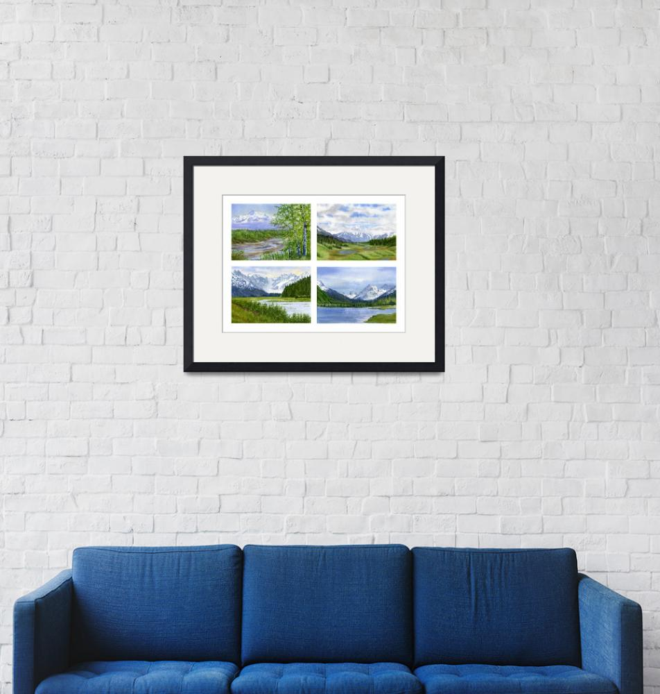 """""""Alaska Landscape Poster""""  (2011) by Pacific-NW-Watercolors"""