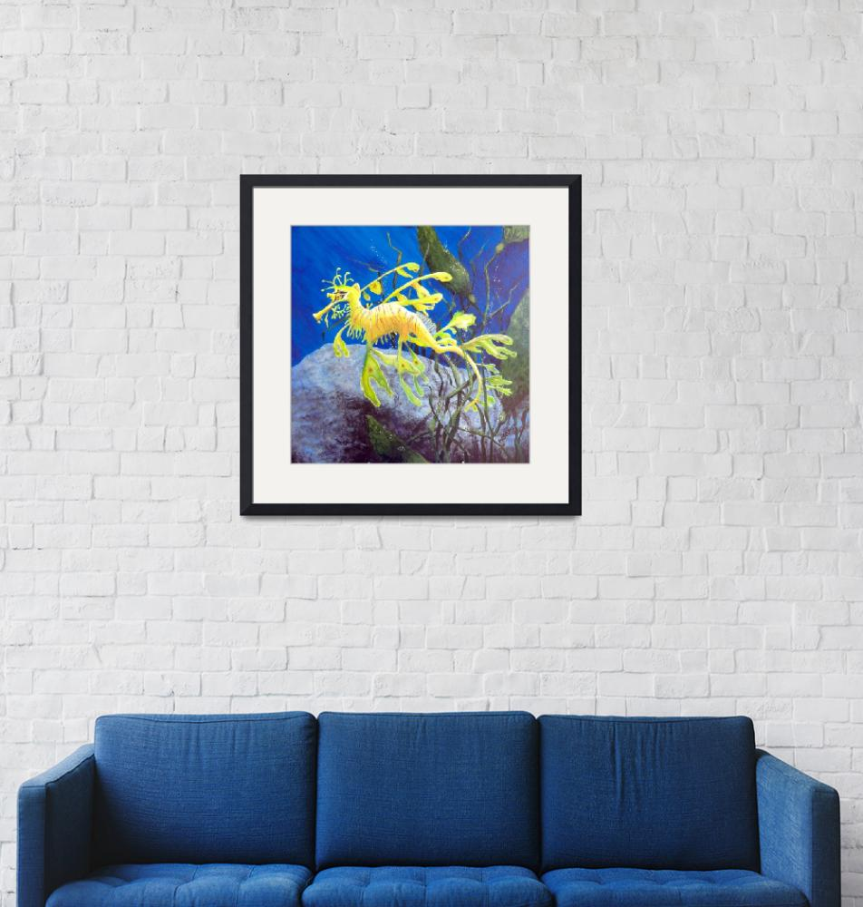 """""""Yellow Sea Dragon""""  (2012) by marypalmer"""