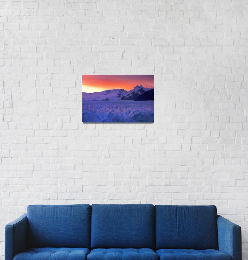 """""""Perito Moreno Glacier, Patagonia, Argentina""""  (2005) by Irudi"""