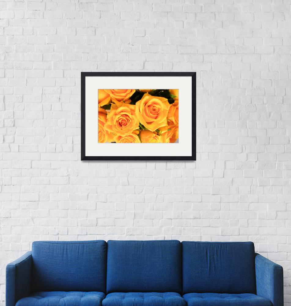 """Bunch of Yellow Roses""  (2014) by rhamm"