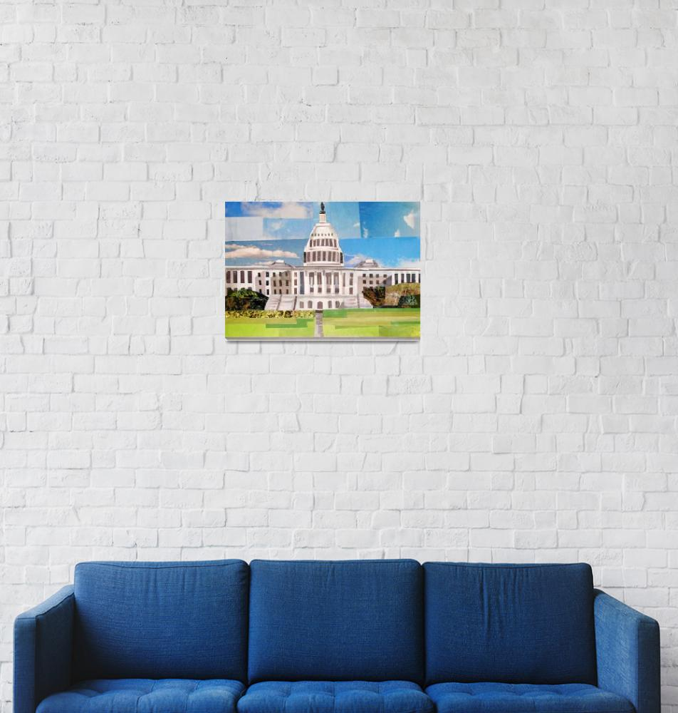 """""""Daytime at the Capitol""""  (2014) by megancoyle"""