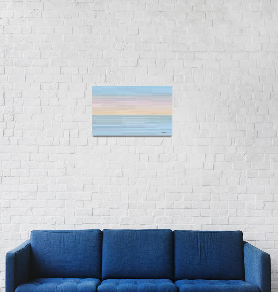 """1c Abstract Digital Sunrise""  (2014) by Ricardos"