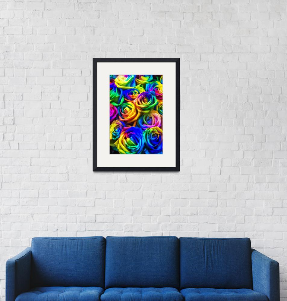 """""""Rainbow colored roses""""  (2018) by aaronchoi"""