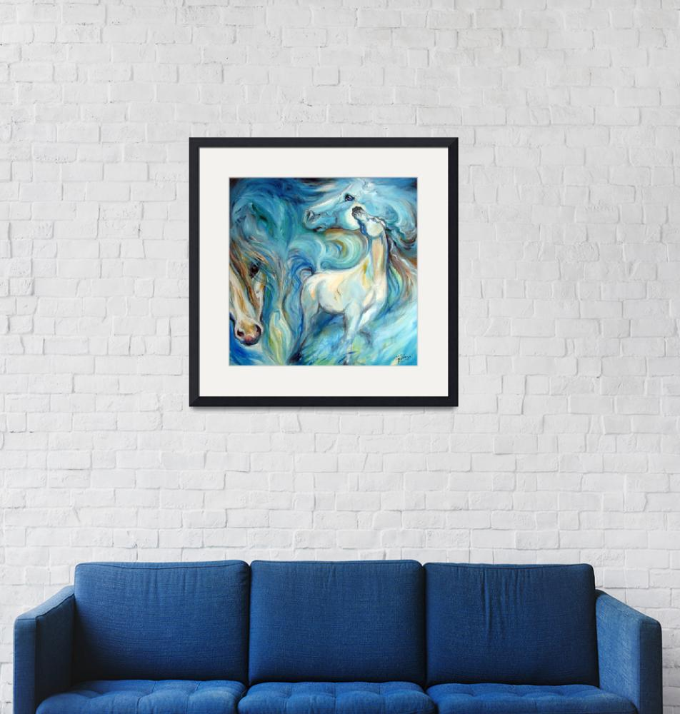 """""""BLUE MYSTIC SKY EQUINE""""  (2010) by MBaldwinFineArt2006"""