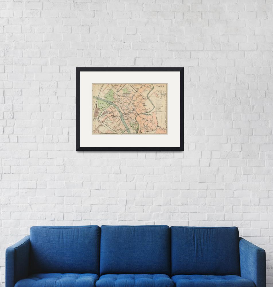 """Vintage Map of York England (1890)""  by Alleycatshirts"