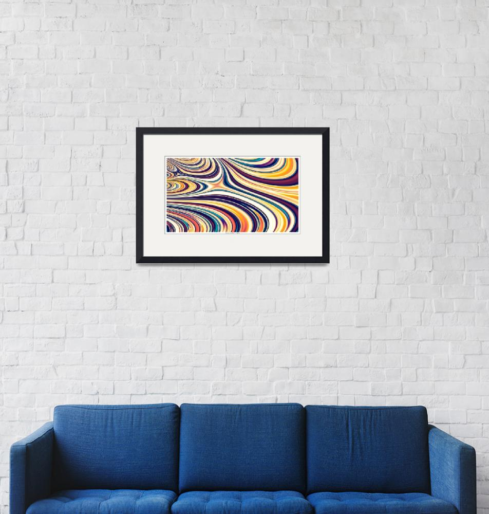 """""""Curved Rounded Lines Flowing""""  (2013) by LeahMcNeir"""