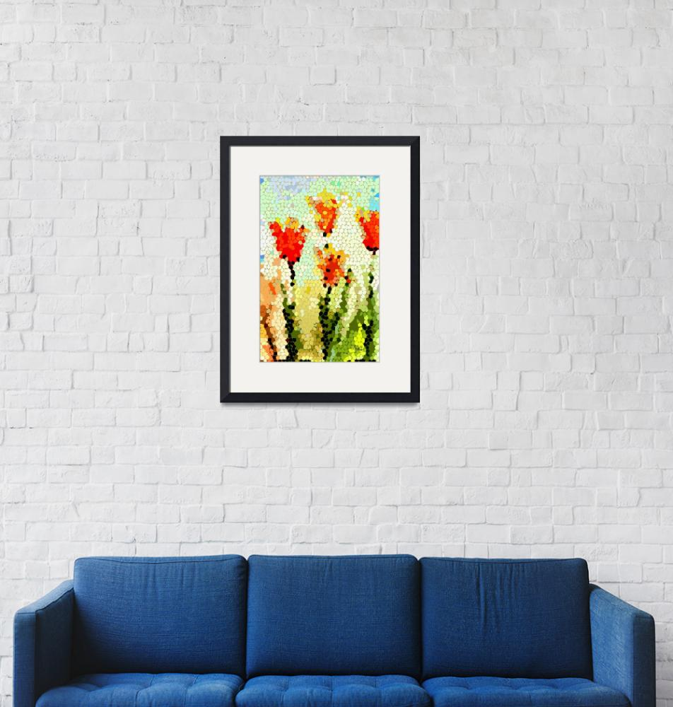 """""""Abstract Tulips Modern Art by Ginette""""  (2012) by GinetteCallaway"""