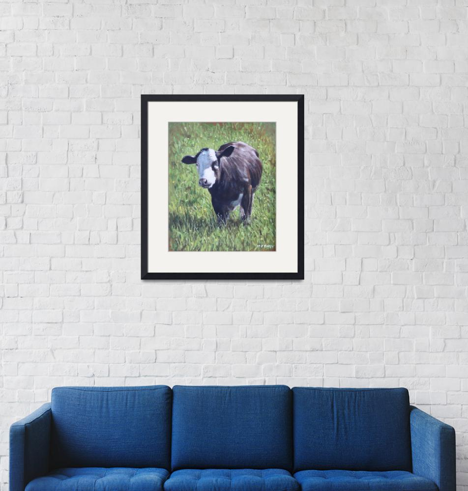 """""""Cow in grass"""" (2012) by martindavey"""