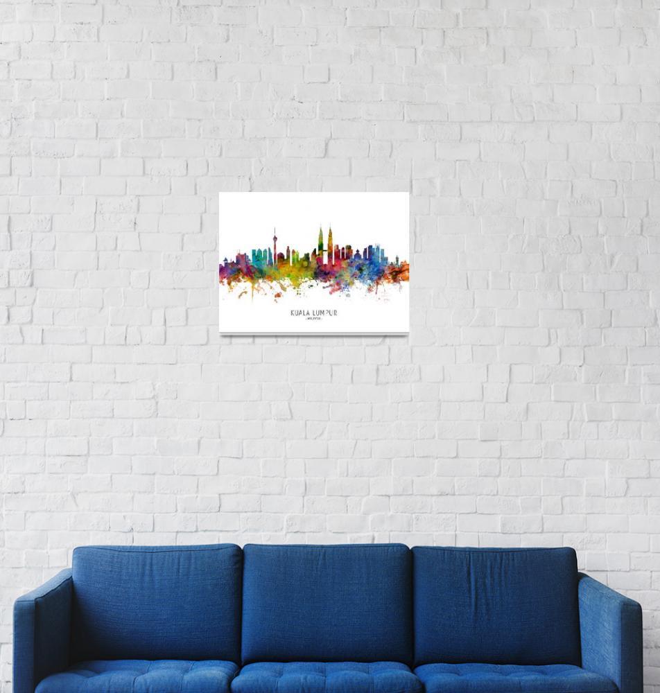 """""""Kuala Lumpur Malaysia Skyline""""  (2019) by ModernArtPrints"""