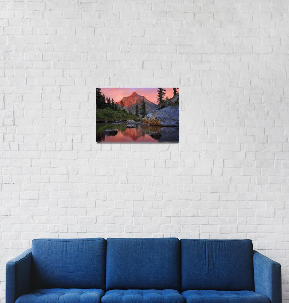 """Rampart Lakes""  (2008) by Inge-Johnsson"