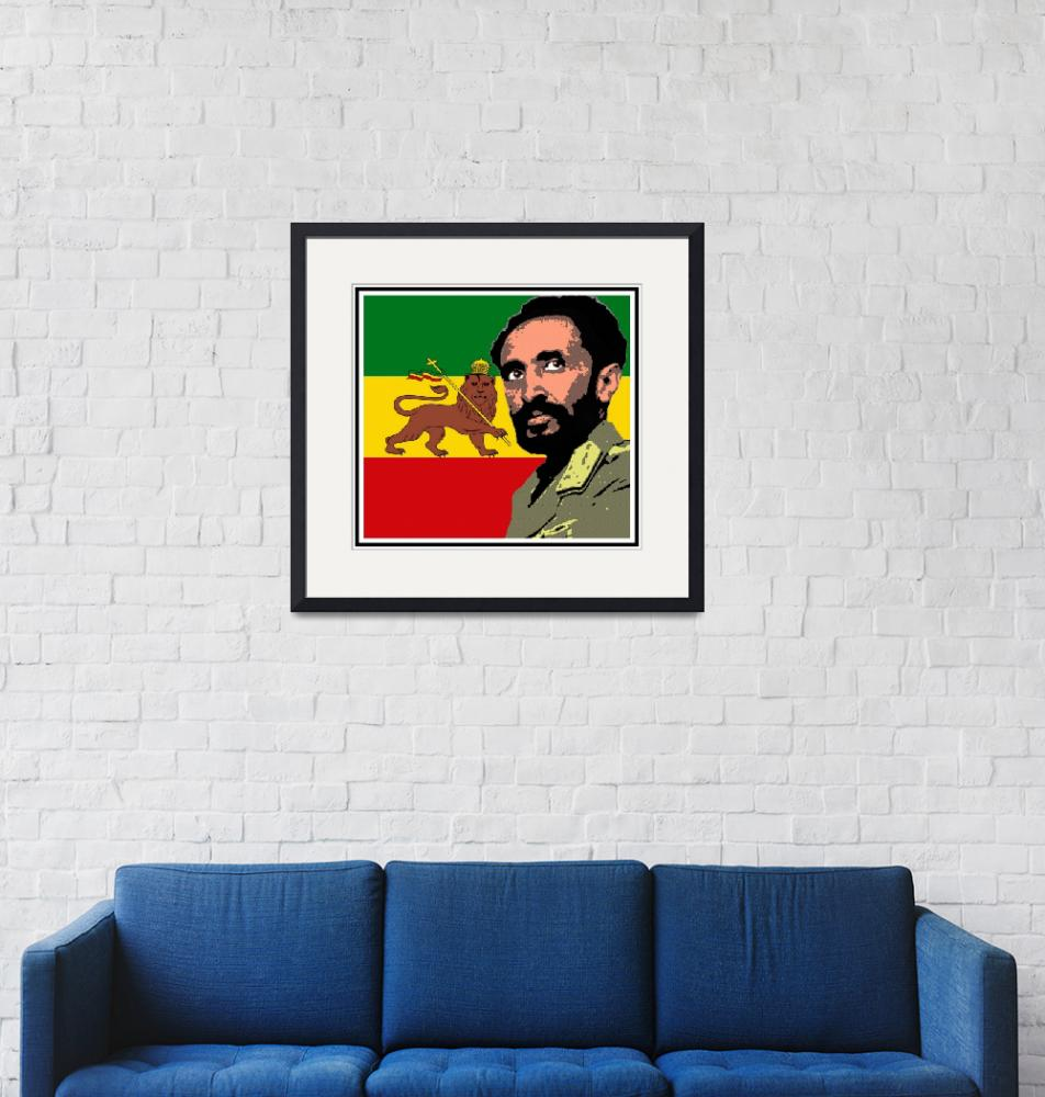 """Haile Selassie-Lion of Judah""  (2016) by thegriffinpassant"