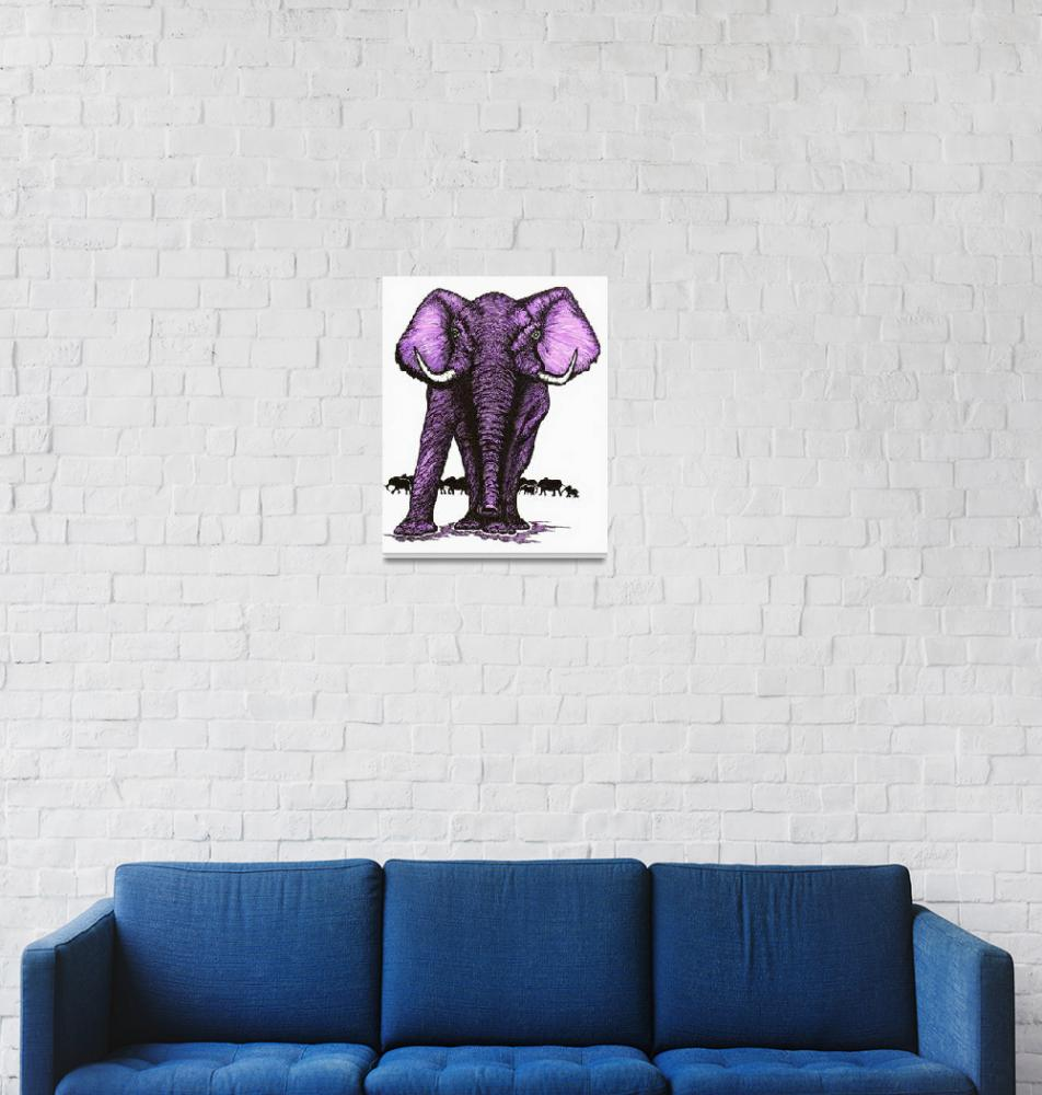 """Elephant Guard-Orchid""  (1991) by OgleWarfield"