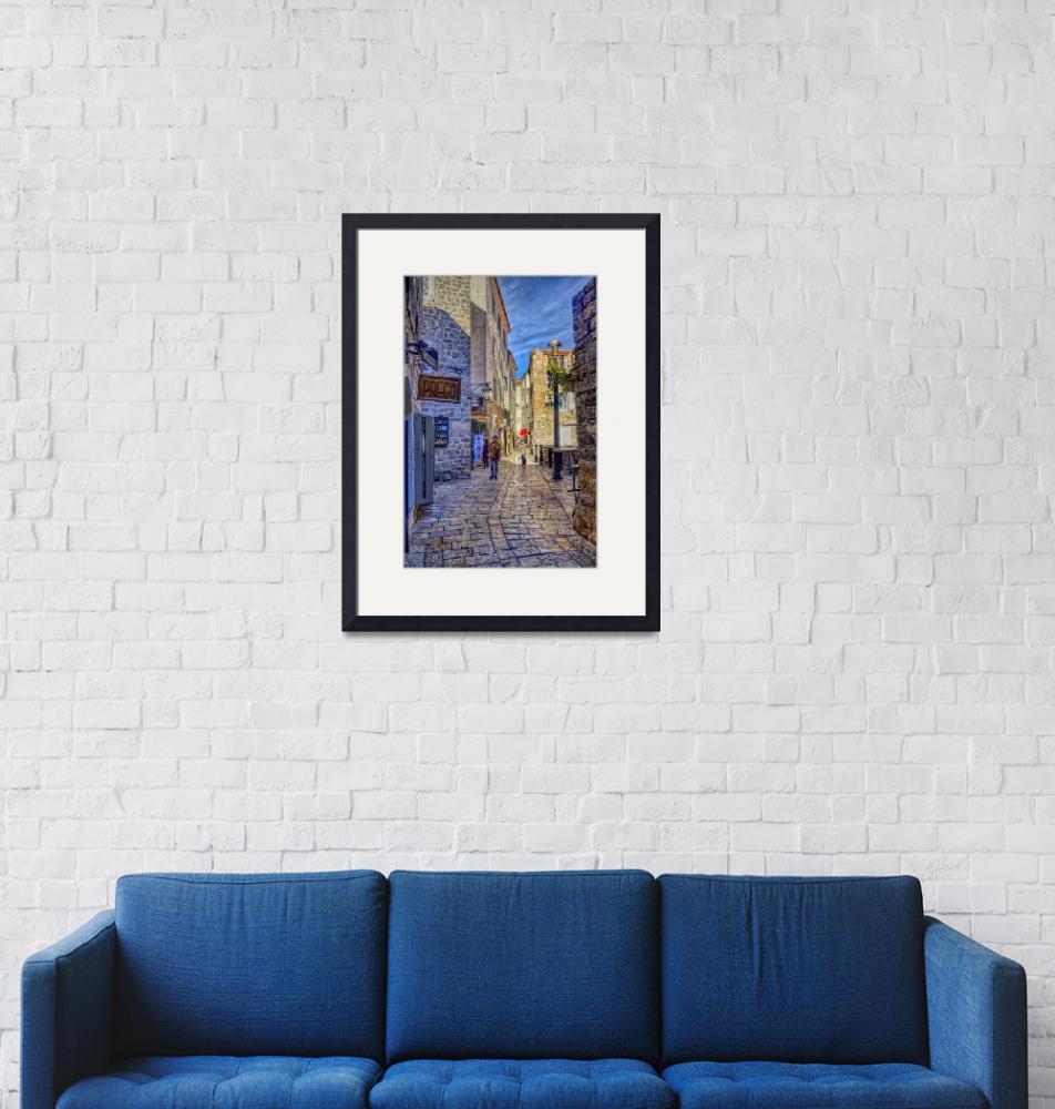"""""""A Quiet Street In Budva""""  (2017) by PaulCoco"""