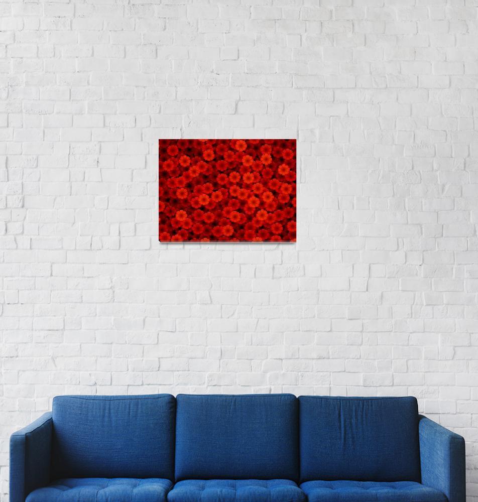 """Red flowers""  (2005) by darrenwhittingham"