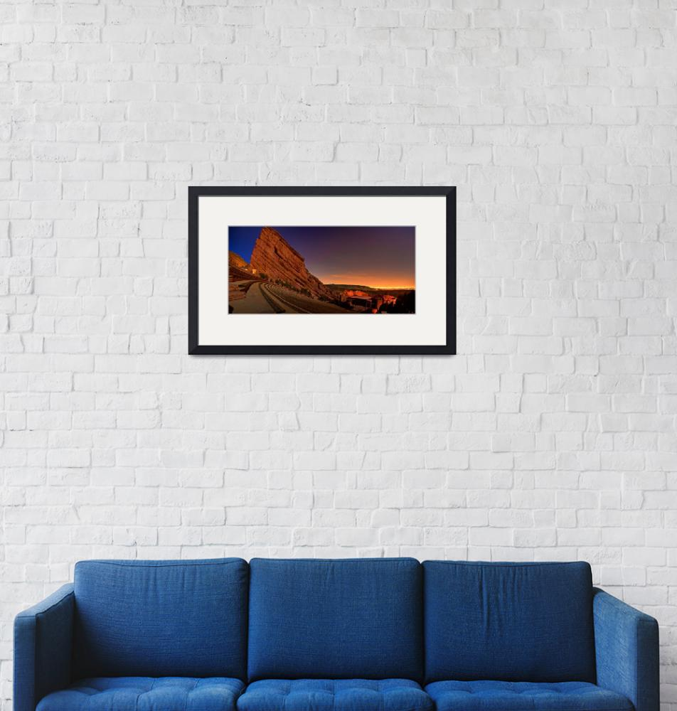 """""""Red Rocks Amphitheatre at Night, CO""""  by jamesomedia"""
