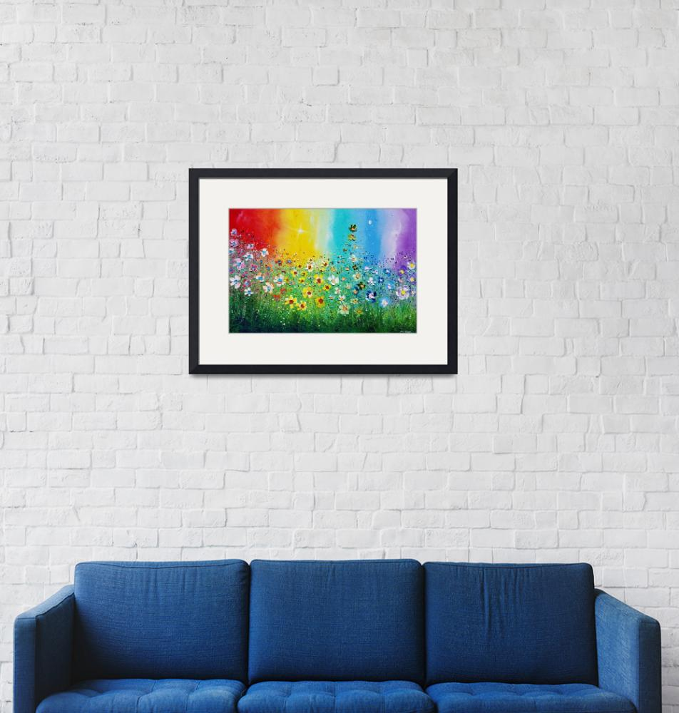 """""""Rainbow Flowers in Love""""  (2018) by PhilBroad"""