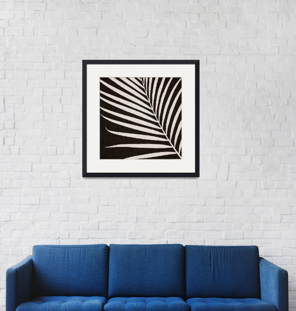 """""""Black and White Palm Frond""""  (2018) by moderntropical"""