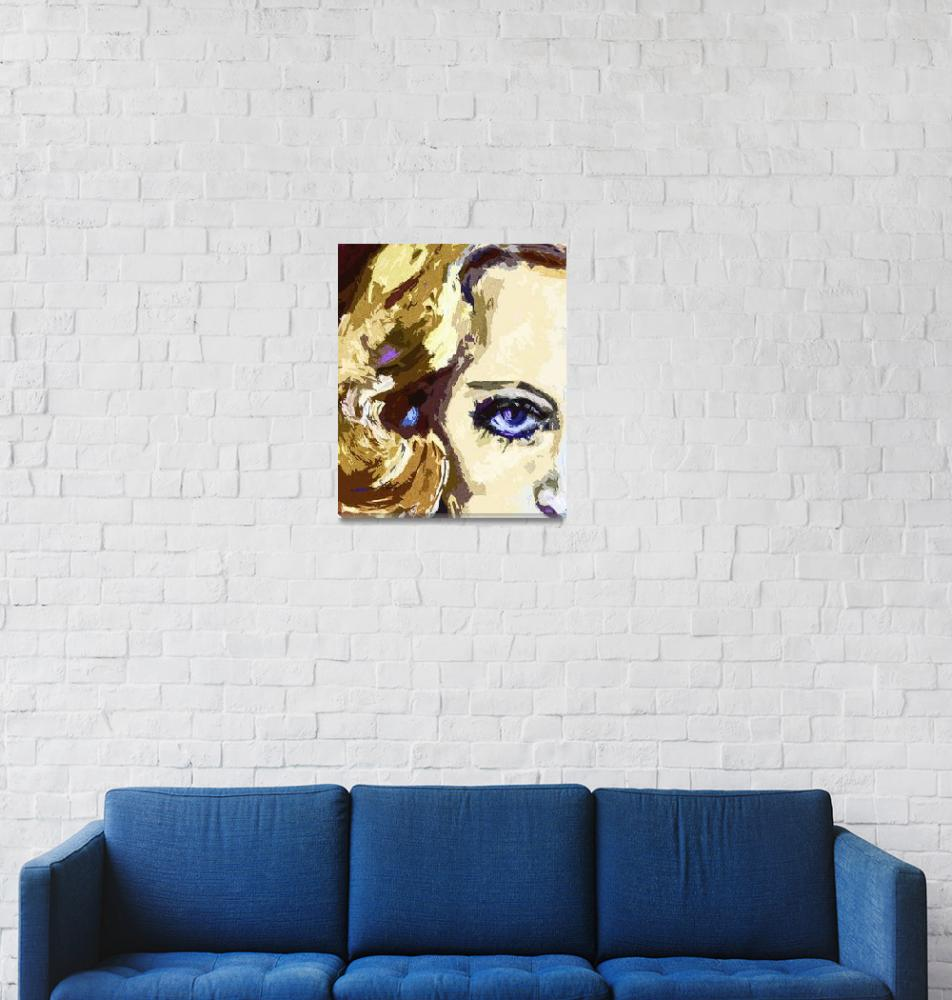 """Carol Lombard Blue Eyes Modern Art""  (2013) by GinetteCallaway"