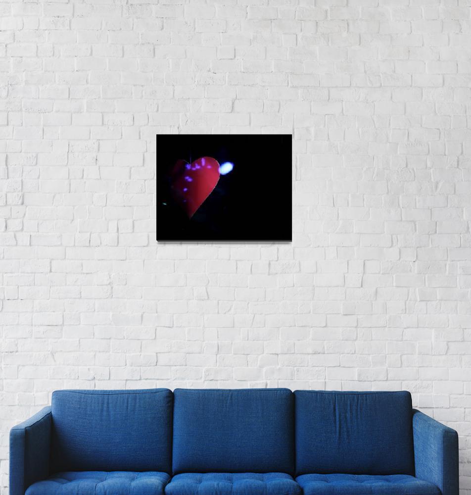 """Saint Valentines day red love heart""  (2008) by edwardolive"