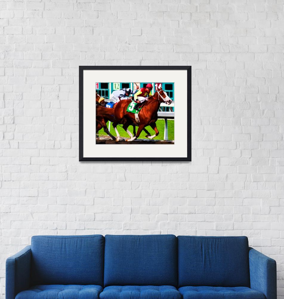 """Race Horses Santa Anita Park""  (2010) by johncorney"