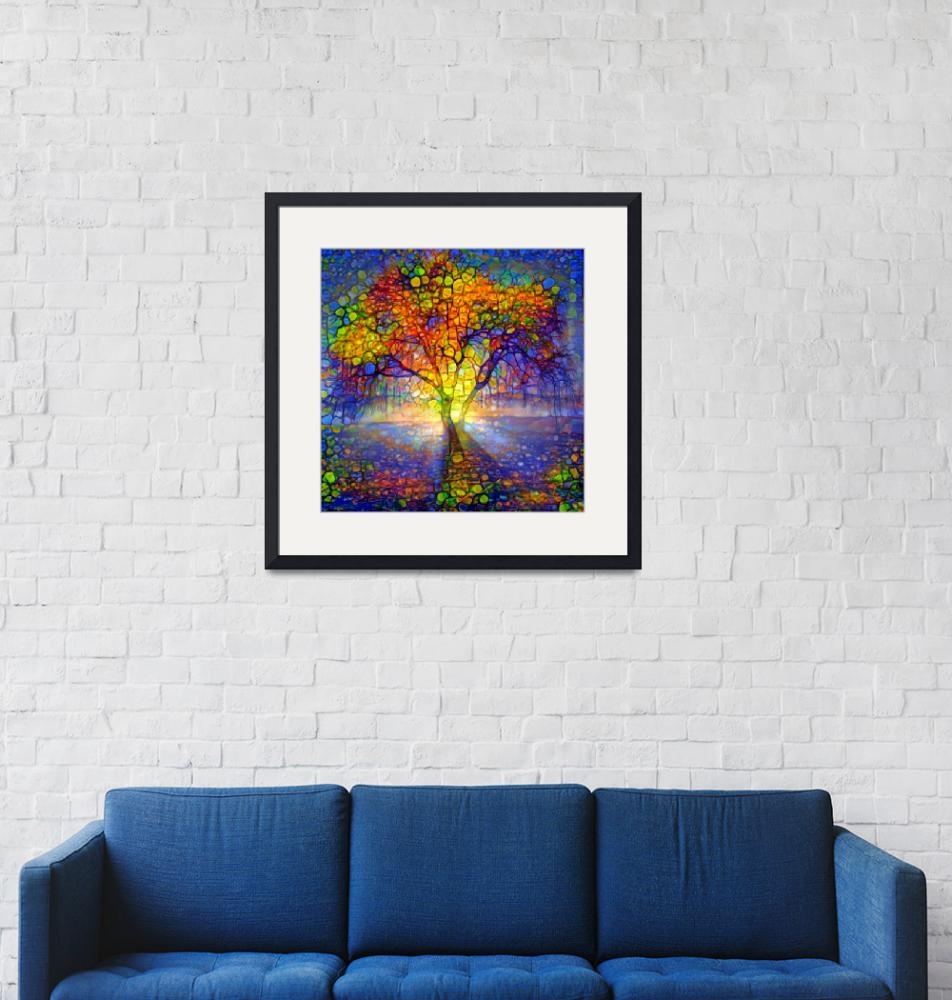 """""""Light through the tree""""  by Art_by_Lilia"""