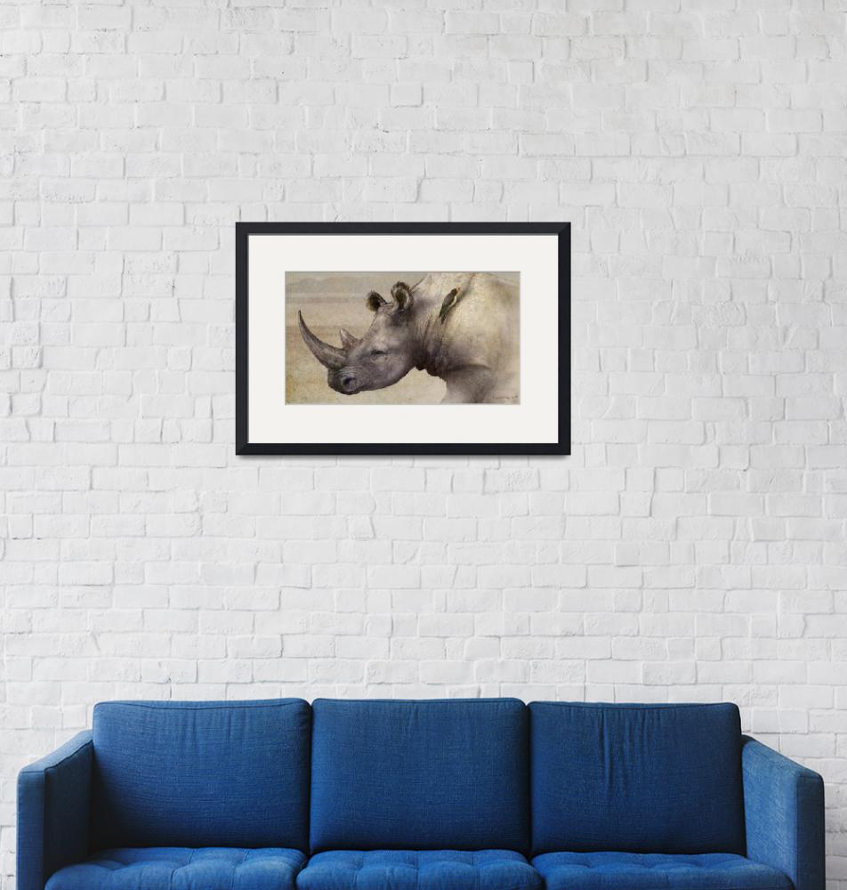 """""""rhino in the dust""""  (2011) by rchristophervest"""