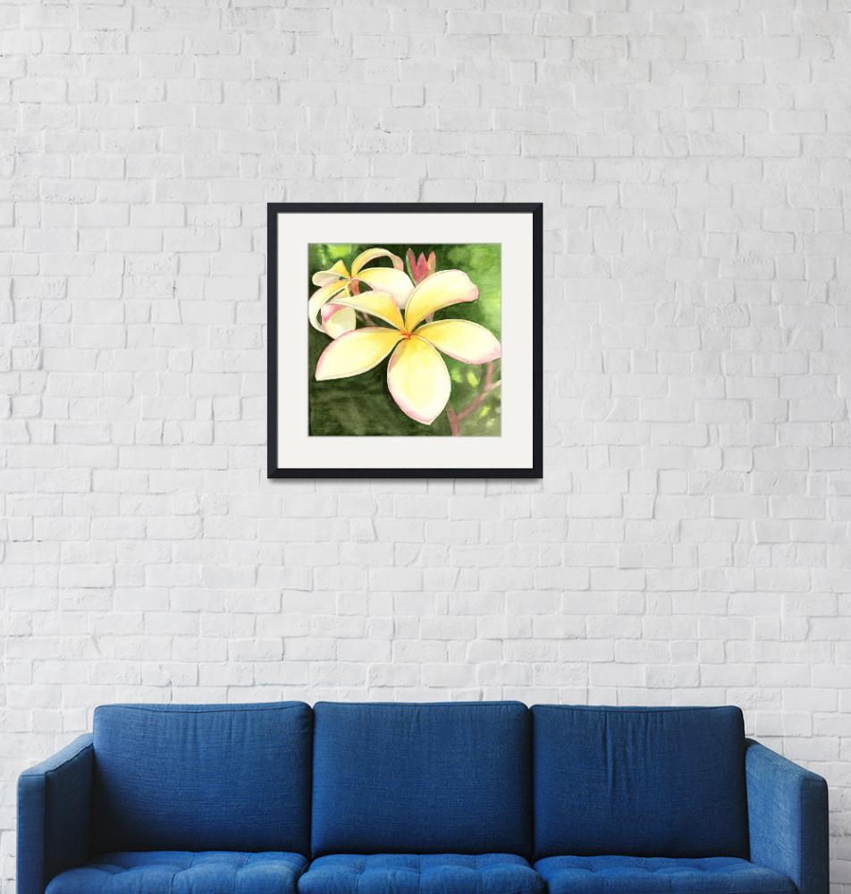 """Yellow Frangipani""  by karenbowerfiji"