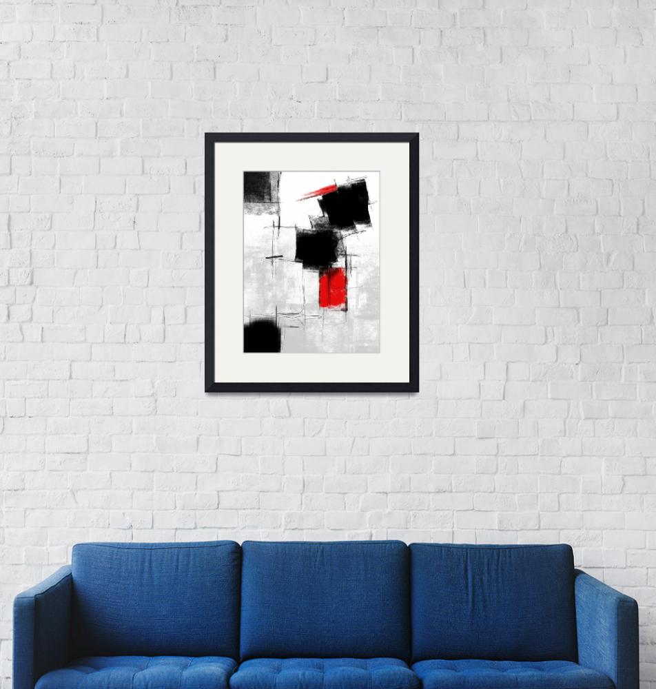 """""""Free Style #104 White Black Red""""  (2020) by EmericoStyle"""