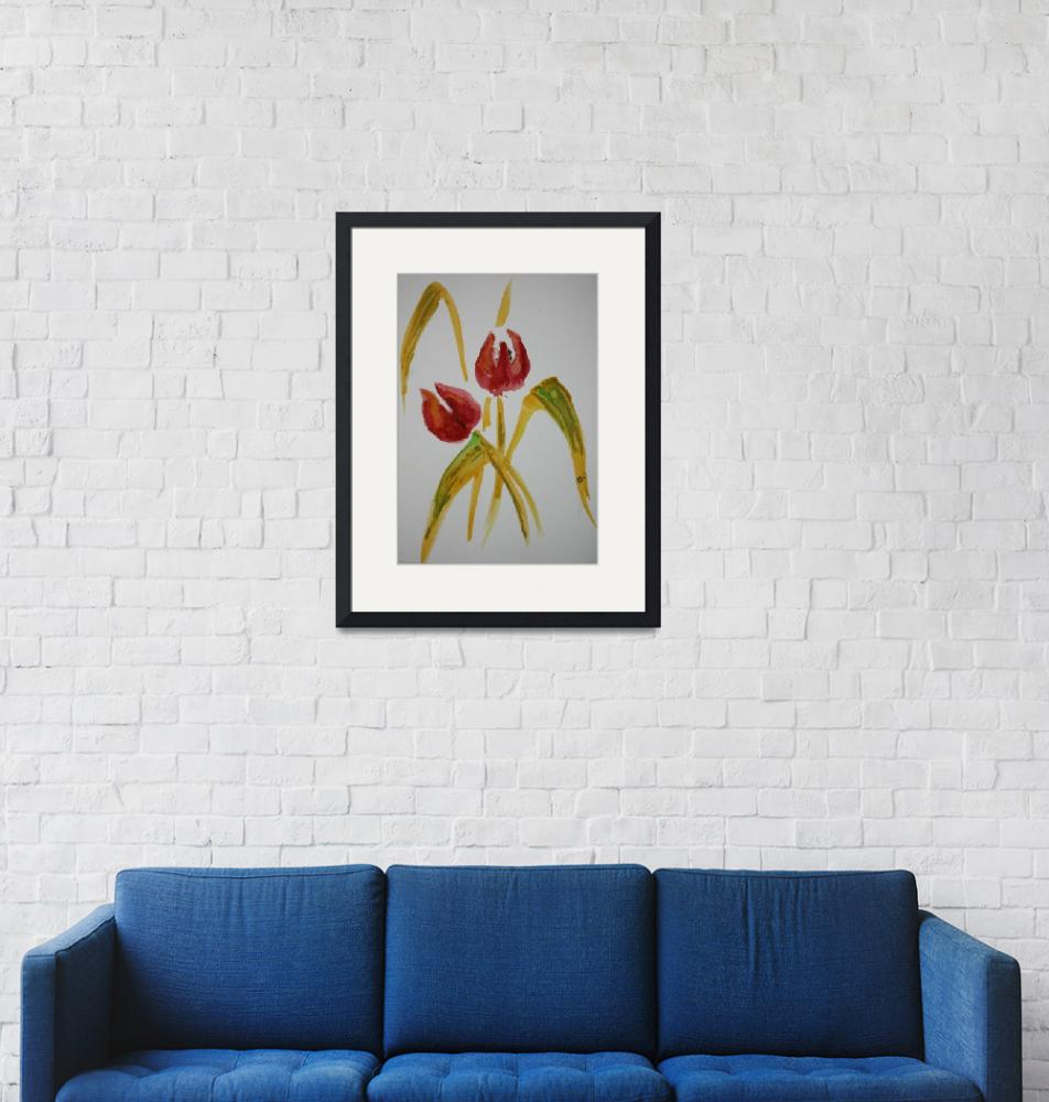 """""""Tulips""""  (2008) by vickiwheatcroft"""