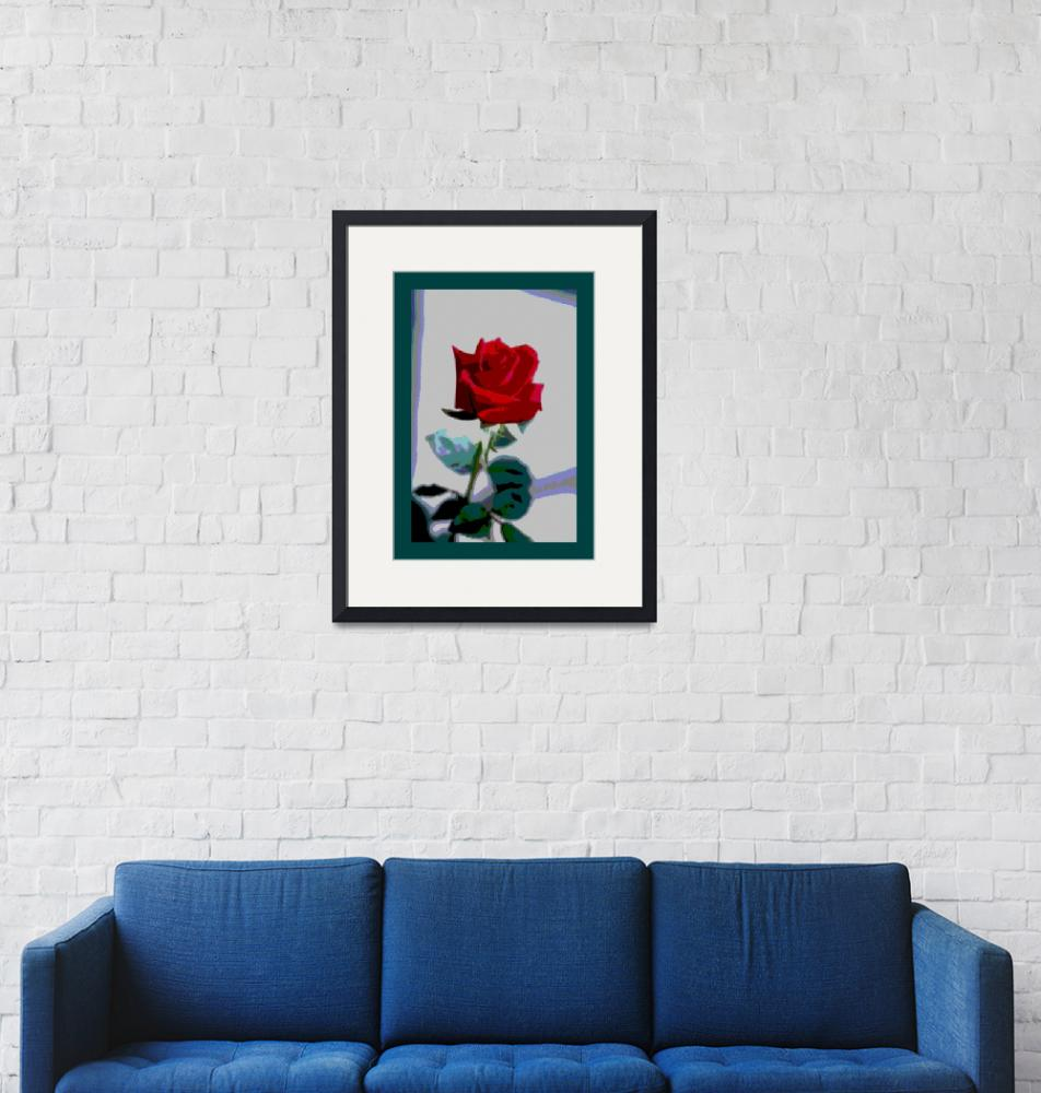 """""""Red Rose Enhanced large border""""  (2013) by TheNorthernTerritory"""