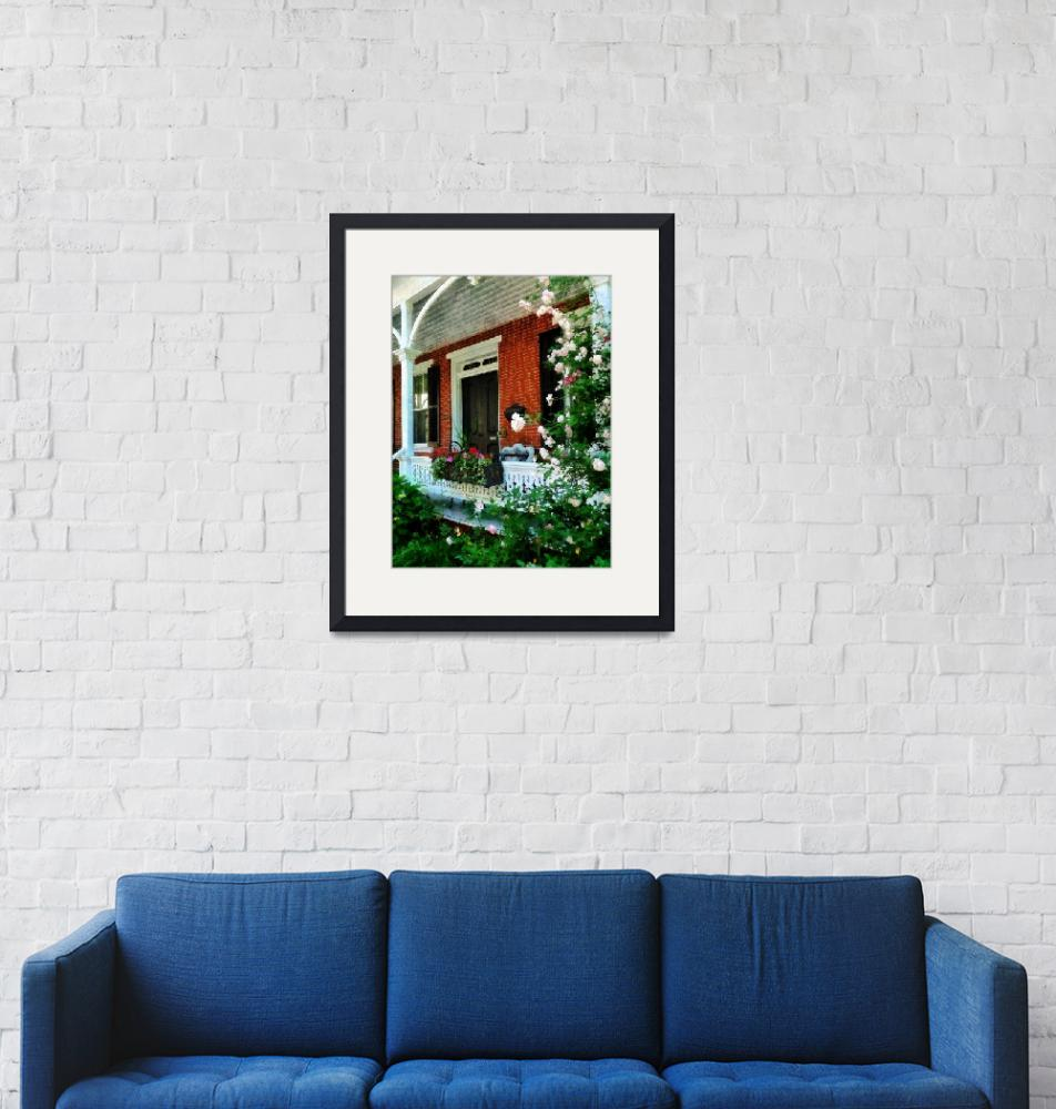 """""""Porch With Climbing Roses"""" by susansartgallery"""