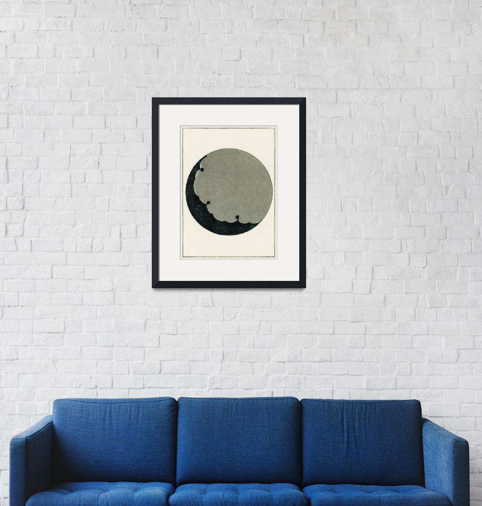 """Moon Illustration by Watanabe Seitei"" by FineArtClassics"