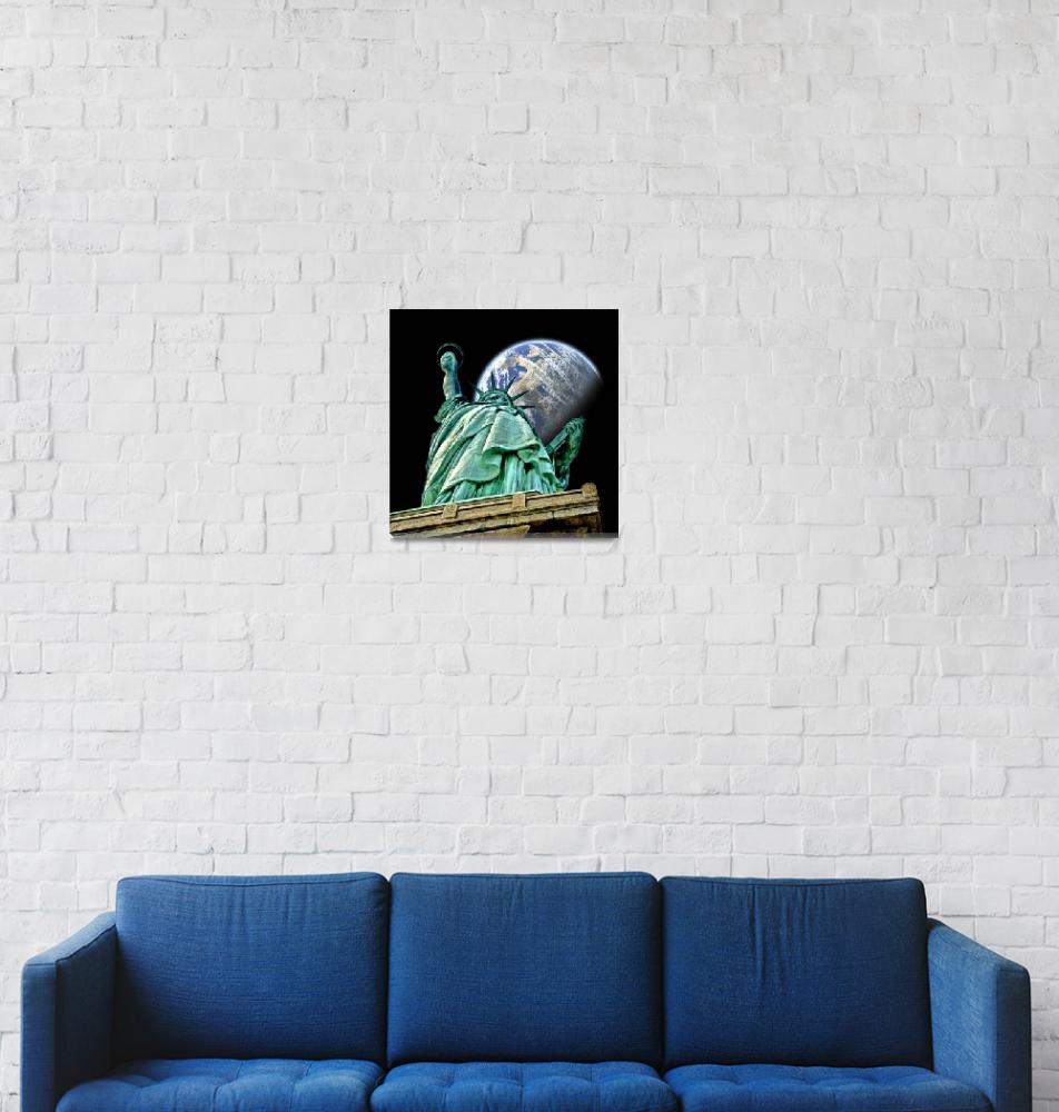 """""""Statue of Liberty in Space""""  (2009) by New-Yorkled"""