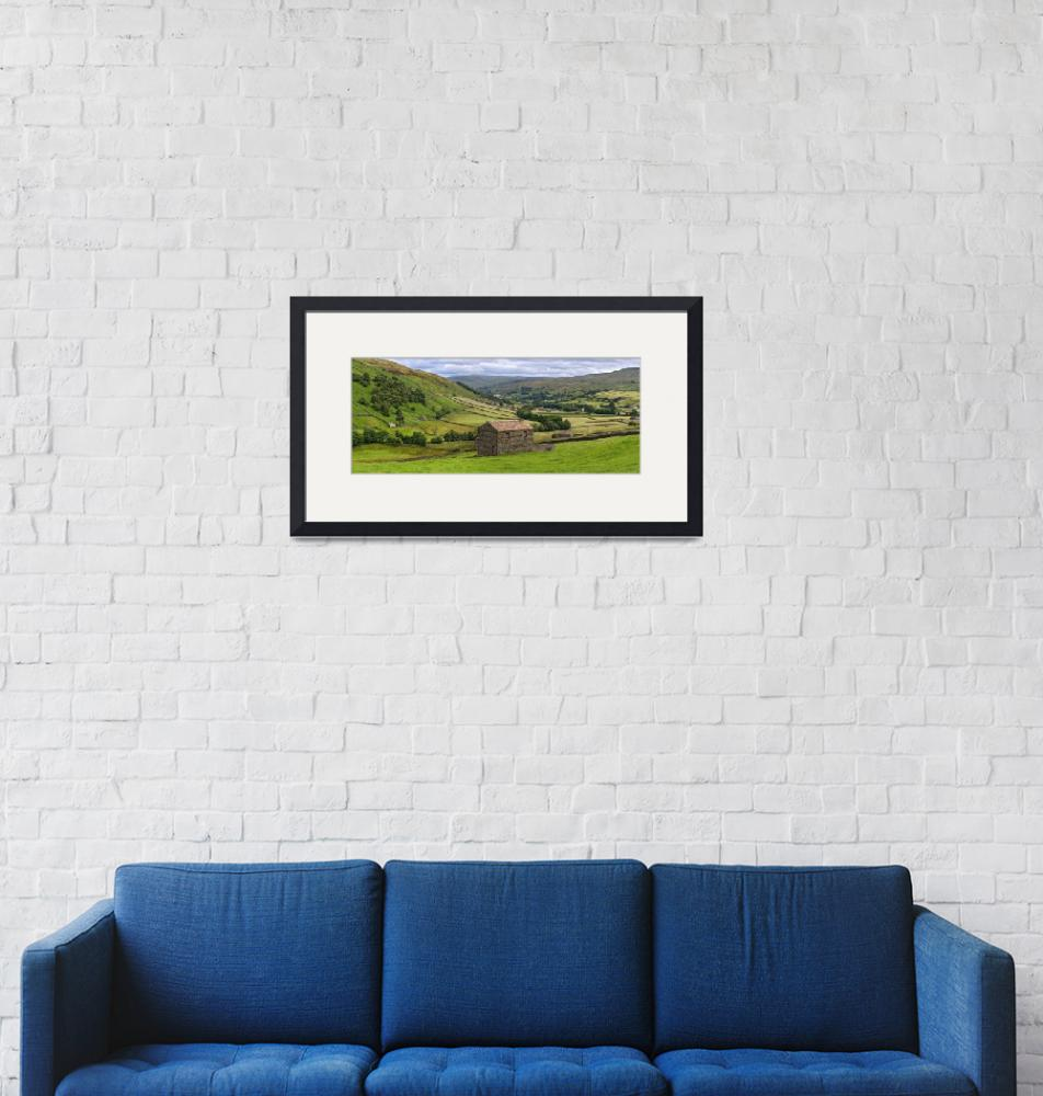 """""""Yorkshire Dales Swaledale Panorama""""  by Dave_Lawrance_Photography"""