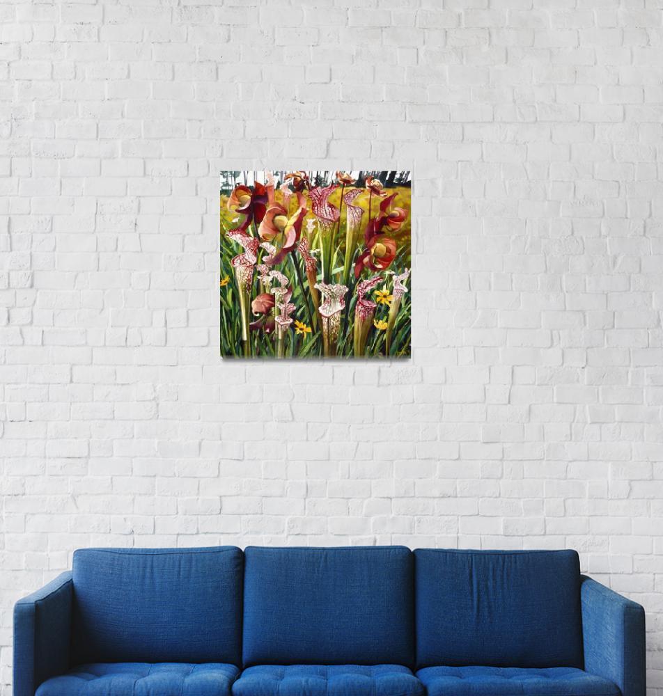 """""Hungry Bouquet"" Flower Watercolor, Paul Jackson""  by PaulJacksonArt"