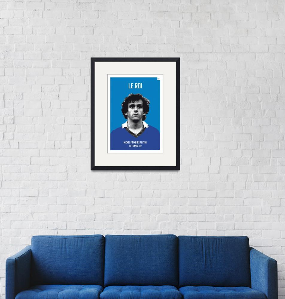 """""""My Platini soccer legend poster""""  by Chungkong"""