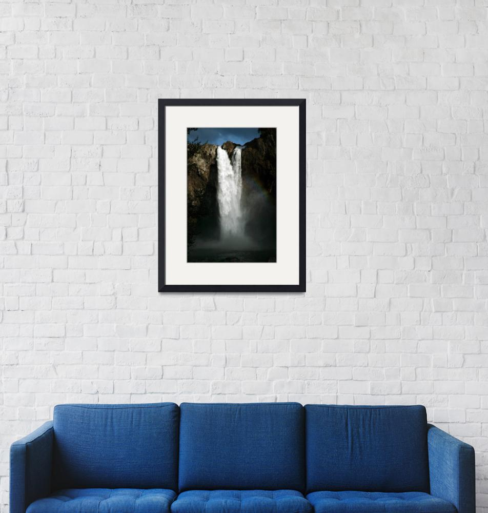 """""""Snoqualmie Falls viewed from the end of the boardw""""  (2009) by JohnGaffen"""
