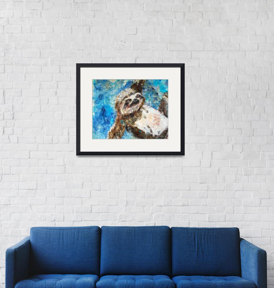 """sloth painting 