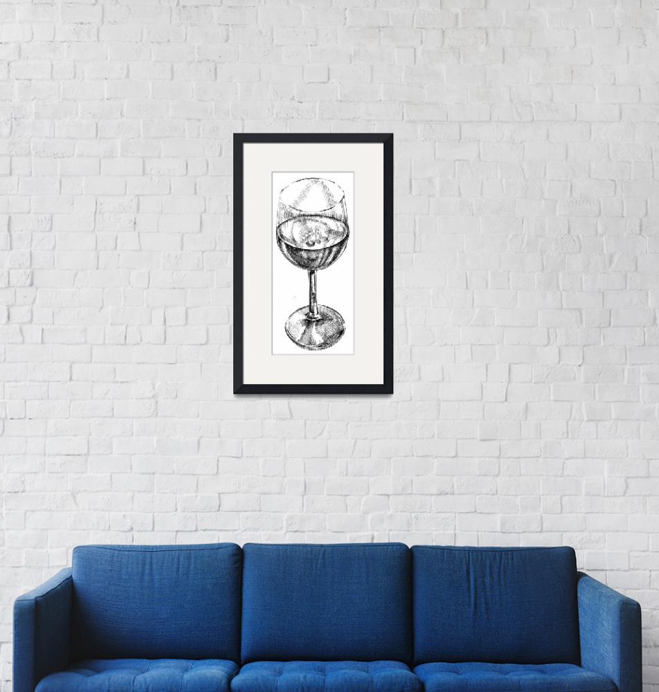 """""""wine glass"""" (2010) by Elspeth"""