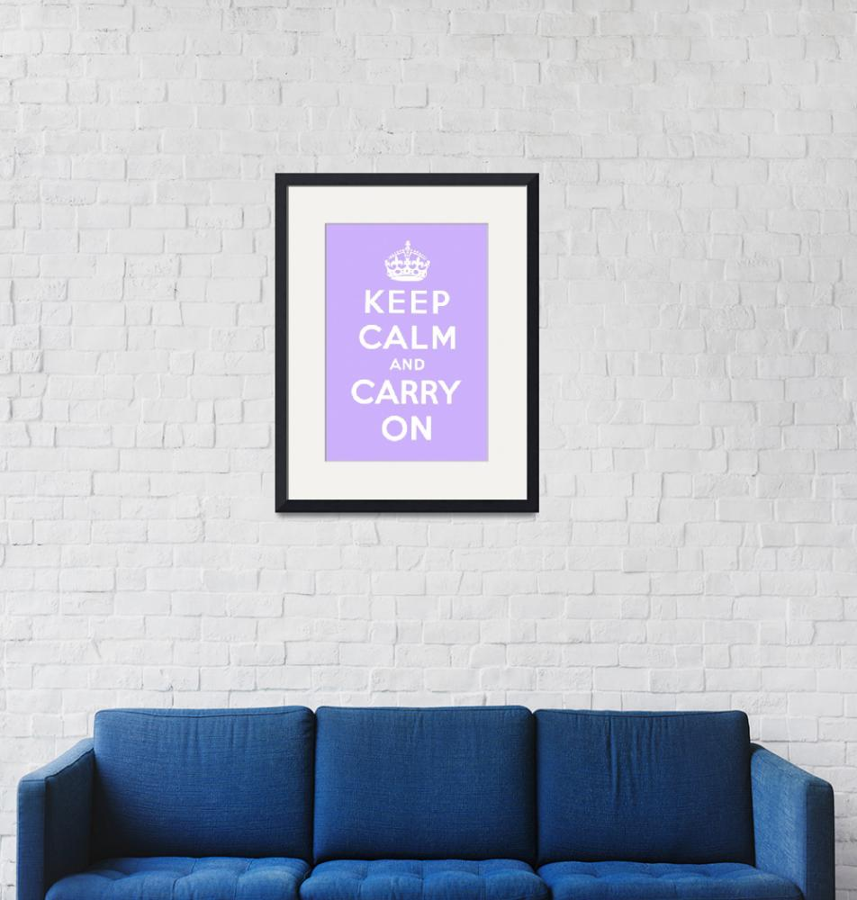 """""""Purple Keep Calm And Carry On 3"""" by oldies"""