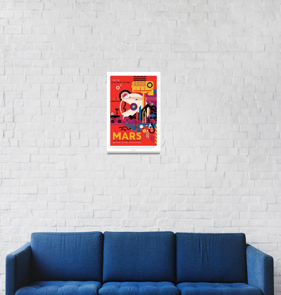 """""""NASA Mars Tours Space Travel Poster""""  by FineArtClassics"""