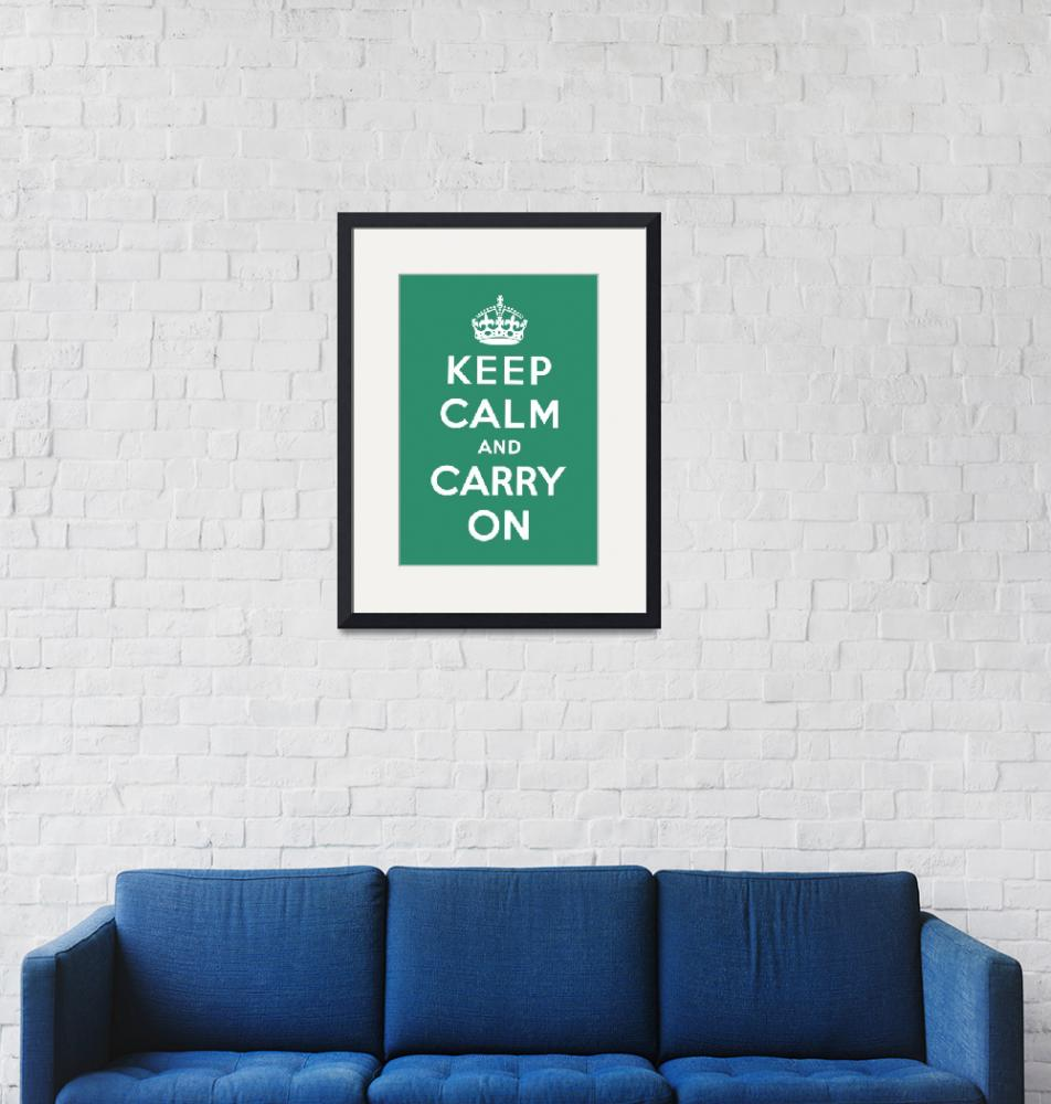 """""""Green Keep Calm And Carry On 10""""  by oldies"""