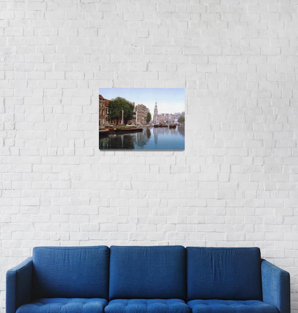 """Amsterdam Waterway""  by Alleycatshirts"