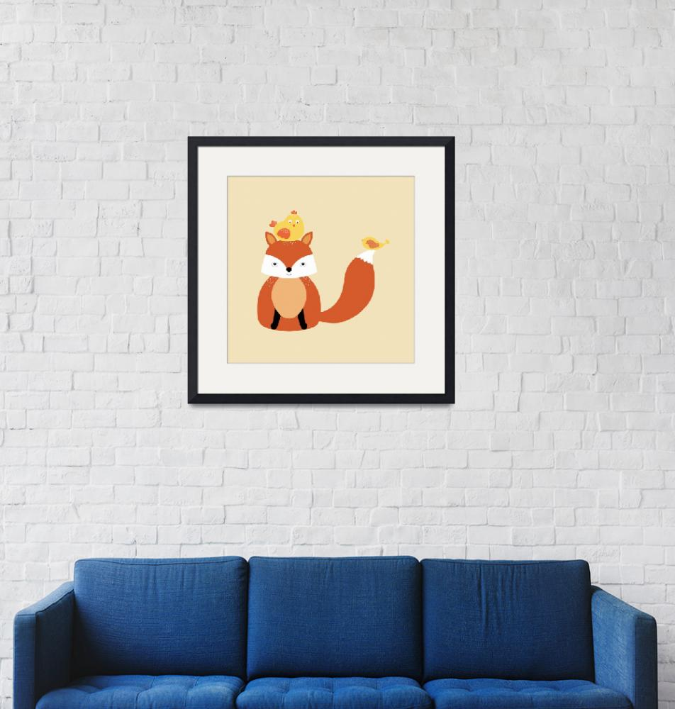 """Fox - New Friends - Illustration""  (2016) by CristinaBianco"