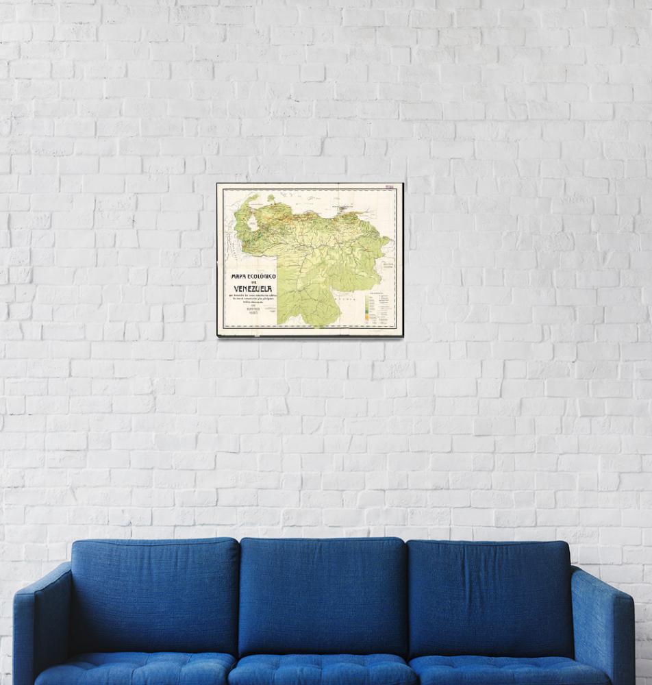 """""""Vintage Map of Venezuela (1920)""""  by Alleycatshirts"""