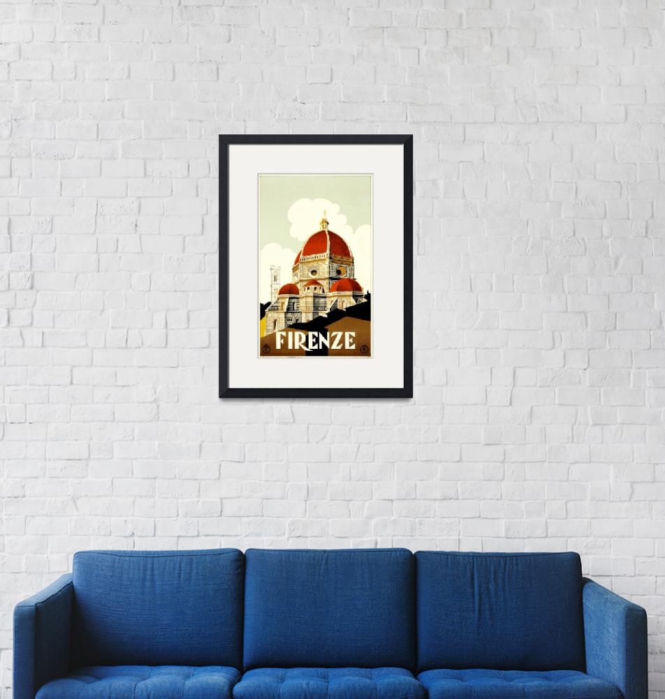 """""""Florence, Italy Vintage Travel Poster"""" by FineArtClassics"""