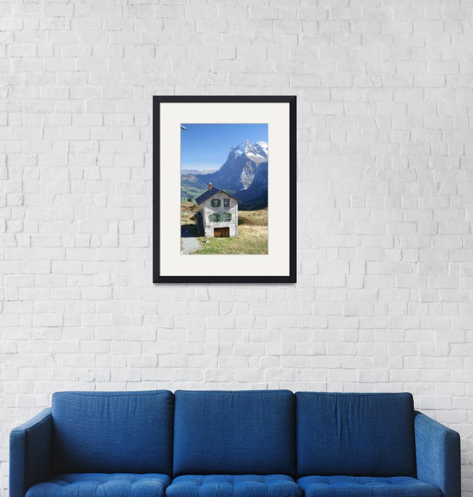 """""""Eiger Abandon in the Swiss Alps""""  (2006) by zururban"""