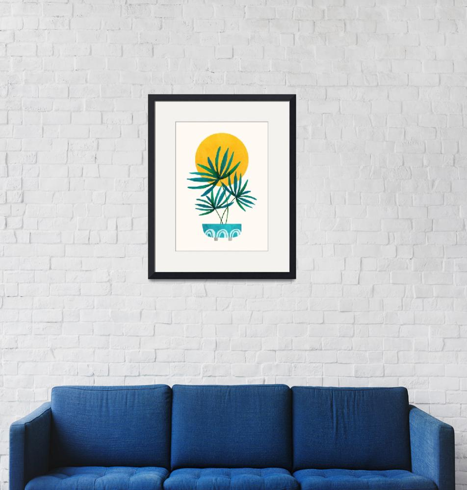 """""""Little Palm + Sunshine""""  (2019) by moderntropical"""
